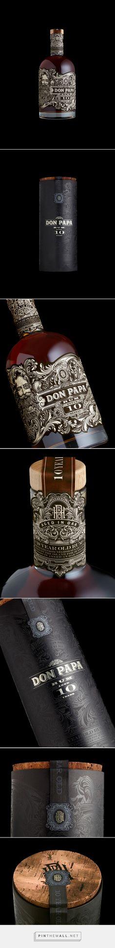 Don Papa #Rum 10 Year Old #packaging designed by Stranger & Stranger - http://www.packagingoftheworld.com/2015/06/don-papa-10-year-old.html