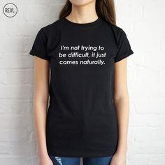 Feminist T-shirt Top Shirt Tee Fashion Funny Grunge Shirts & Tops, Tee Shirts, Tees, Fashion Slogans, Grunge, Galaxy T Shirt, Cute Tshirts, Shirt Style, T Shirts For Women