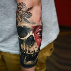 Skull Tattoo by Timur Lysenko | Tattoo No. 12714