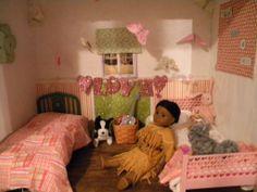 bedroom..american girl dollhouse