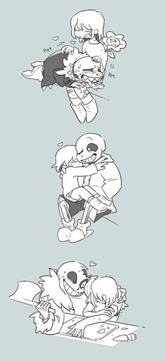frisk and sans underfell pacifist undertale horrortale