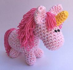 Handmade Christmas Gifts Unicorn Stuffed Animal - Plush Crochet Toy >>>…