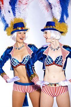 Las Vegas Showgirl Costume Red White n Glam July 4th Showgirl by Clique Costumes Las Vegas