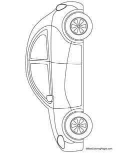 Beetle car coloring page | Download Free Beetle car coloring page for kids | Best Coloring Pages