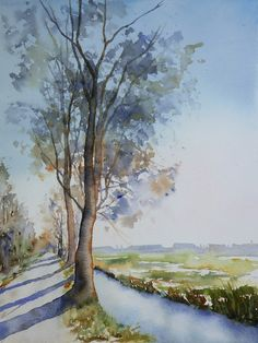Landscape paintings   A Blob of Color #art #watercolor #painting