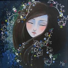It's impressive how well French artist June Leeloo captures the pure beauty of the Far East through her paintings.