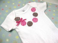 Necklace Applique Onesie
