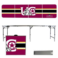 Charleston Golden Eagles 8 Foot Portable Tailgate and Pong Table