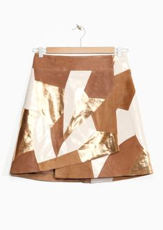 & Other Stories   Rodarte Patchwork Leather Skirt