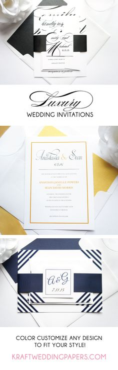 Find the perfect wedding invitation for your special day! Choose from our collection of elegant, modern designs and customize it to reflect your style! #weddinginvitations