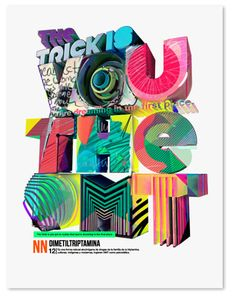 Texture + Colour + Collage Type. I love.