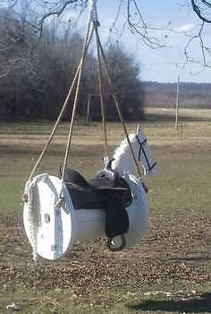 Cable Spool Horse Swing