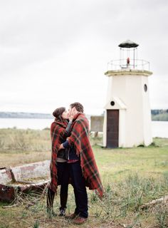 Cozy Gig Harbor Engagement Shoot by O'Malley Photographers   Bridal and Wedding Planning Resource for Seattle Weddings   Seattle Bride Magazine