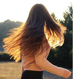 Whip your hair back & forth.