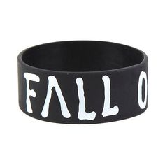 Best Bracelet 2017/ 2018 : Fall Out Boy Logo Rubber Bracelet Hot Topic ($7)  liked on Polyvore featuring