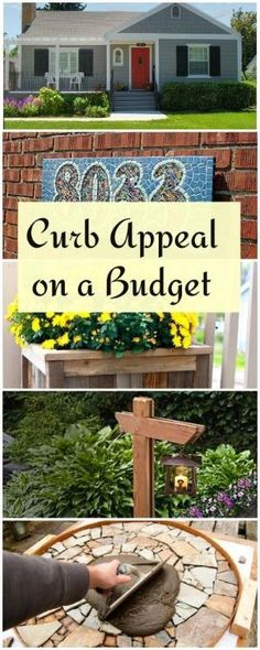 Curb Appeal on a Budget • Lots of Ideas & Tutorials! by francisca