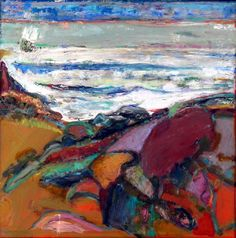 Bernard Chaet,  12 x 12 inches  White Waves  Oil on Canvas  Alpha Gallery