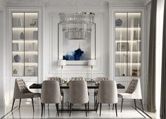 51 Luscious Luxury Dining Rooms Plus Tips And Accessories For Decorating Yours. Create a luxury dining room design with the help of these inspirational dining room decor ideas. Find luxury dining furniture and modern dining room lighting. Modern Dining Room Lighting, Luxury Dining Room, Dining Room Sets, Luxury Rooms, Modern Dining Rooms, Dining Room Decor Elegant, Luxury Houses, Luxury Apartments, Modern Lighting