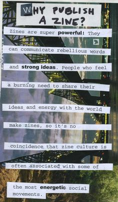 #ClippedOnIssuu from How to Make a Zine + Identity