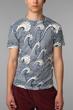 UrbanOutfitters.com > The Rise And Fall Allover Waves Tee