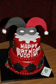 Image result for harley quinn hat cake
