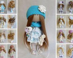 Muñeca de tela muñeca Tilda color marrón de por AnnKirillartPlace