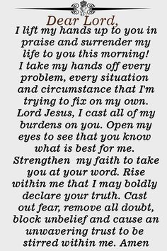 Deliver Your Life to God with this Powerful Prayer - Jesus Quote - Christian Quote - Deliver Your Life to God with this Powerful Prayer The post Deliver Your Life to God with this Powerful Prayer appeared first on Gag Dad. Prayer Scriptures, Bible Prayers, Faith Prayer, God Prayer, Power Of Prayer, Catholic Prayers, Bible Verses, Good Morning Prayer, Morning Prayers