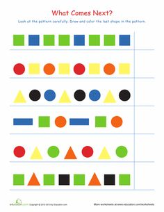 complete the patterns 1 sequencing first grade math worksheets pattern worksheet 1st. Black Bedroom Furniture Sets. Home Design Ideas