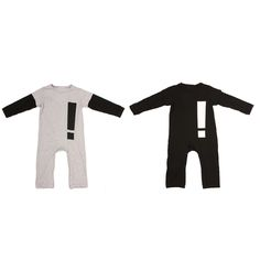 Baby Infant Toddlers Exclamation Point Long Sleeve Rompers Jumpsuit