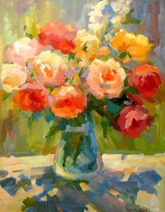 Rose Art, Fruit Art, Arte Floral, Abstract Flowers, Beautiful Paintings, Flower Art, Amazing Art, Watercolor Art, Acrylic Art