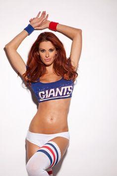 Giants body paint new cheerleaders york