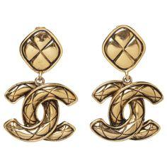 Vintage CC Earrings   Chanel   Catchys