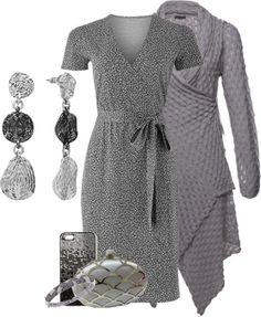 A fashion look from March 2013 featuring gray dress, fur-lined coats and leather booties. Browse and shop related looks. Grey Outfit, Gray Dress, Autumn Winter Fashion, Winter Style, Girl Closet, Shades Of Grey, Polyvore Outfits, Dress Skirt, Casual Outfits