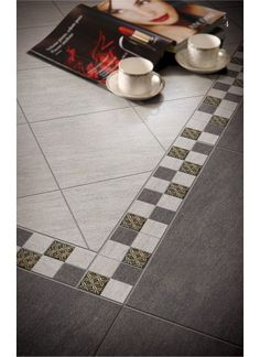 Roma is a glazed porcelain tile available in three colours; beige, dark grey and light grey. The matt finish tile has a subtle riven texture...