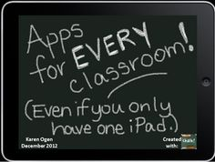 iPad Apps for EVERY Classroom (Even if you have only 1 iPad)