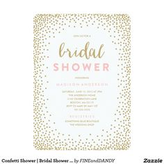 Confetti Shower | Bridal Shower Invitation Shower the bride with beautiful invitations! Set the stage for her upcoming nuptials with our trendy and modern designs.