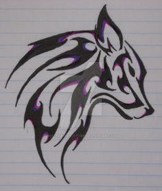 wolf-tattoo-purple by Nef-the-art-Otter