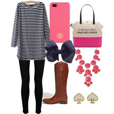 """""""Preppy Pink."""" without the bow"""