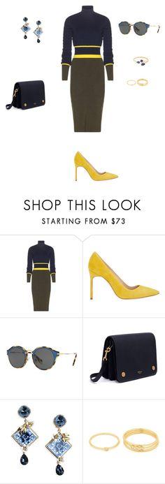 """Wardrobe staples.."" by sebolita ❤ liked on Polyvore featuring Mary Katrantzou, Manolo Blahnik, Miu Miu, Mulberry, Dolce&Gabbana, Gorjana, AYA, dress, contestentry and WardrobeStaples"