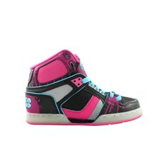 Shop for Womens Osiris NYC 83 Ultra Skate Shoe in BlackPinkTurquoise at Journeys Shoes. Shop today for the hottest brands in mens shoes and womens shoes at Journeys.com.High-top skate shoe from Osiris featuring patent accents and a padded tongue and collar for comfort.Please note that this shoe runs small; please order one size up.