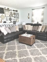 Image Result For Dark Grey Couch Beige Walls Farmhouse