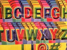 Indian sign painter's alphabet by Nick Sherman, via Flickr