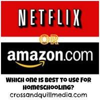 Using Netflix and Amazon programs for homeschool--this looks like it will be a great resource!