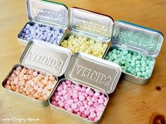 "How to Make Your Own ""Curiously Strong Mints"" {Altoids}! Any flavor you can dream up! Fun little gift idea. :-)"