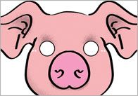 FREE---Three Little Pigs Role-Play Masks---A set of 'Three Little Pigs' role-play masks.