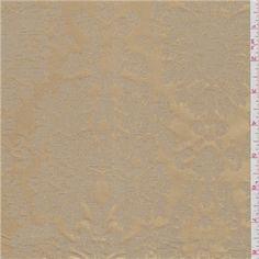Golden Tan Silk Jacquard Taffeta - 25247 - Fabric By The Yard. Fabrics At Wholesale Prices