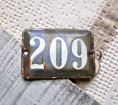 Vintage French Paris house number