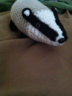 Helga the Hufflepuff Badger - Crochet