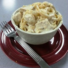 Chicken Fettuccine Alfredo (rice cooker)