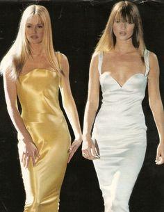 Karen Mulder & Kate Moss - Atelier Versace 1995